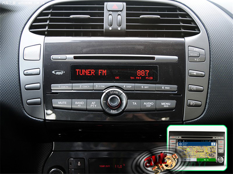 navigatie cu android fiat bravo dvd radio internet filme gps camera mers inapoi pastrare comenzi volan caraudiomarket