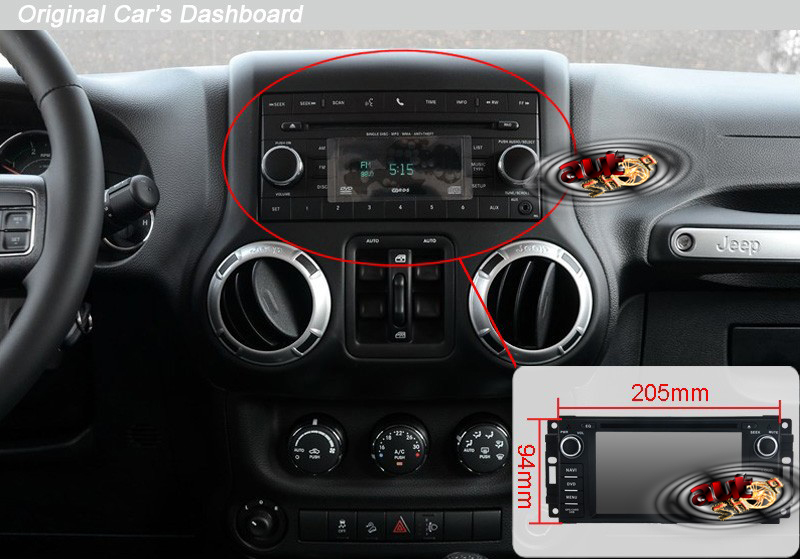 navigatie jeep compass commander wrangler chrysler 300c cu android 4 4