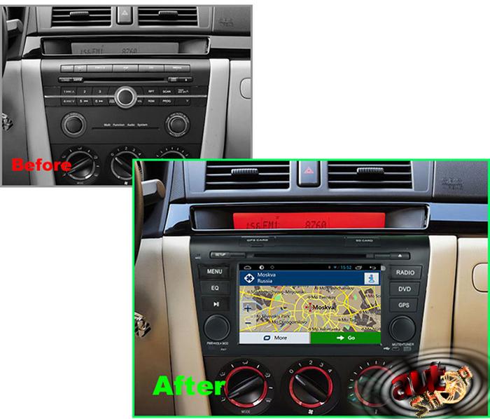 navigatie cu android mazda 3 radio dvd bluetotoh gps cu harti igo pastrare comenzi volan acces internet multimedia caraudiomarket