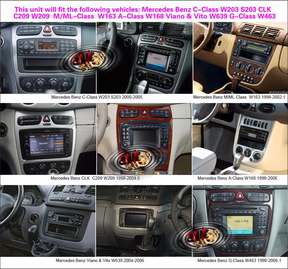 navigatie dedicata mercedes W168 W203 CLK W463 W639 W163 W209 caraudiomarket