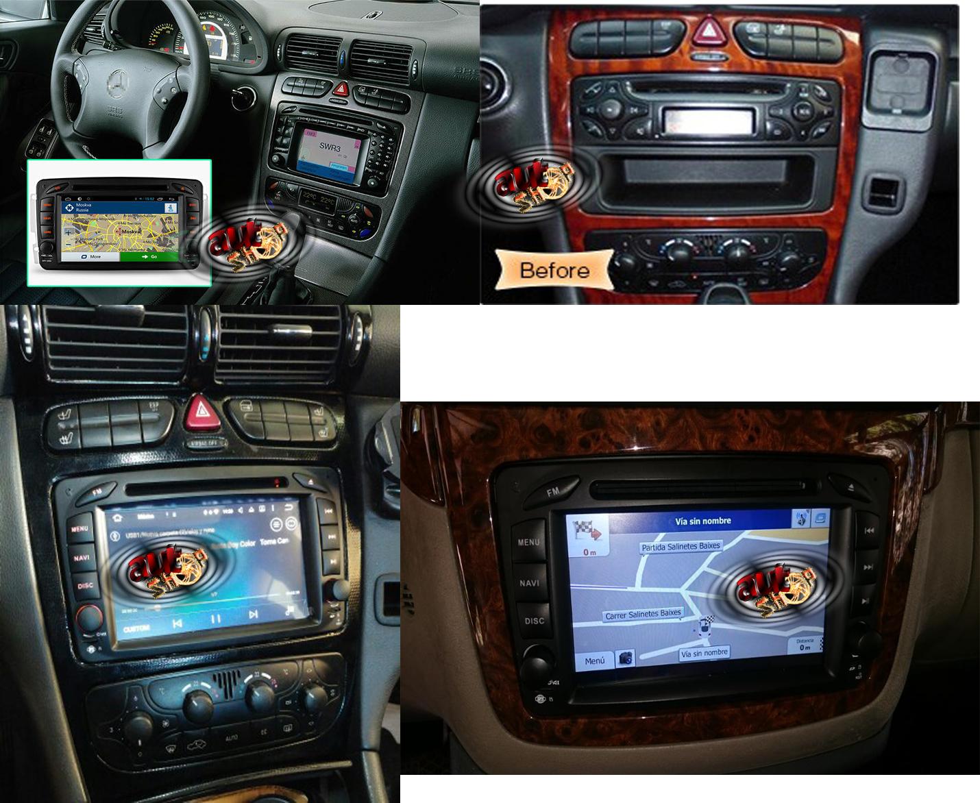 navigatie cu android mercedes W203 W168 W208 W209 W210 W463 W163 W170 Viano Vito cu android bluetooth radio internet caraudiomarket