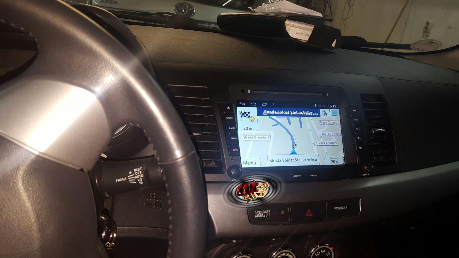 sistem navigatie mitsubishi lancer cu android bluetooth dvd cu harti igo multimedia filme caraudiomarket