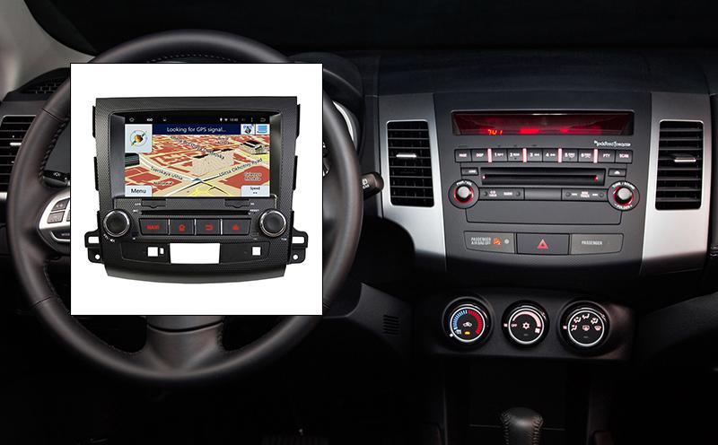 navigatie cu android mitsubishi outlander 2006 2007 2008 2009 2010 2011 2012 radio dvd bluetotoh gps igo waze caraudiomarket