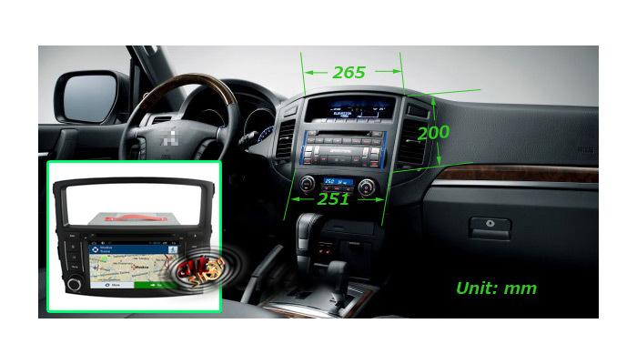 navigatie mitsubishi pajero cu android caraudiomarket