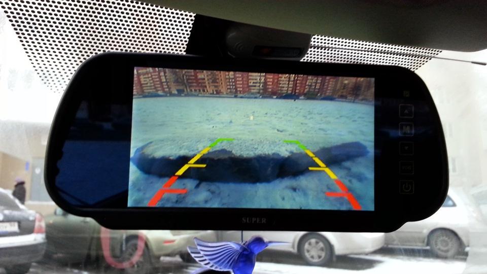 oglinda retrovizoare cu ecran de 7inch bluetooth usb si sd pentru multimedia caraudiomarket