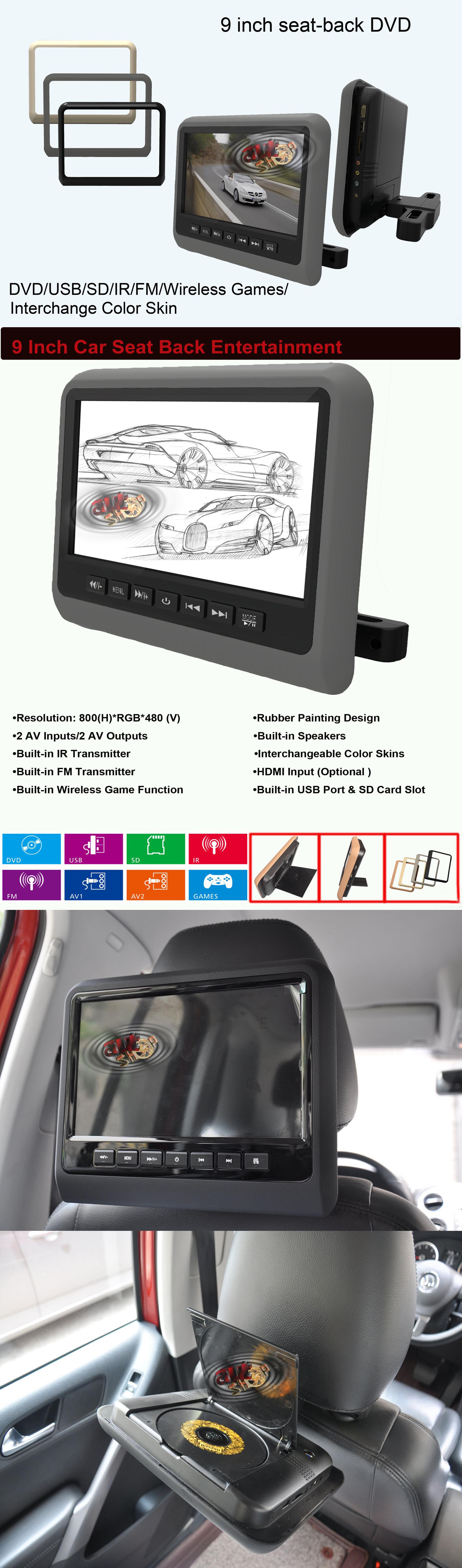 monitor tetiera cu dvd jocuri multimedia si telecomanda caraudiomarket