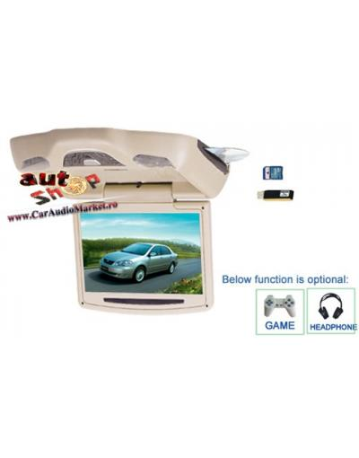 Monitor de plafon cu ecran de 10.2 inch gri/ negru/ bej