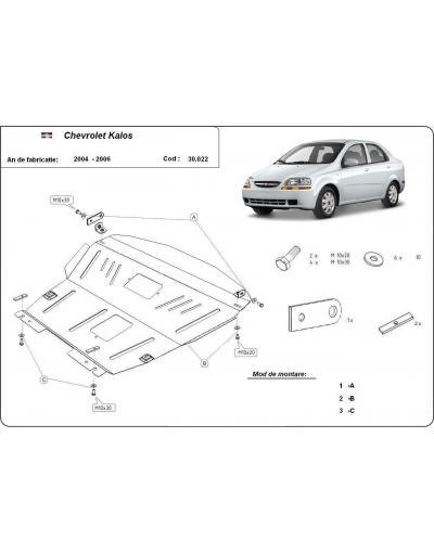 Scut metalic pentru motor si cutia de viteze Chevrolet Kalos 2004 2005 2006 2007 2008