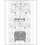 Scut metalic pentru motor si cutia de viteze Hyundai Elantra 2011-