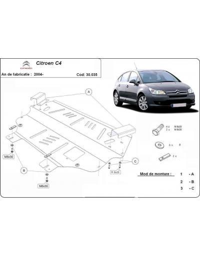 Scut metalic pentru motor si cutia de viteze Citroen C4 2004 2005 2006 2007 2008