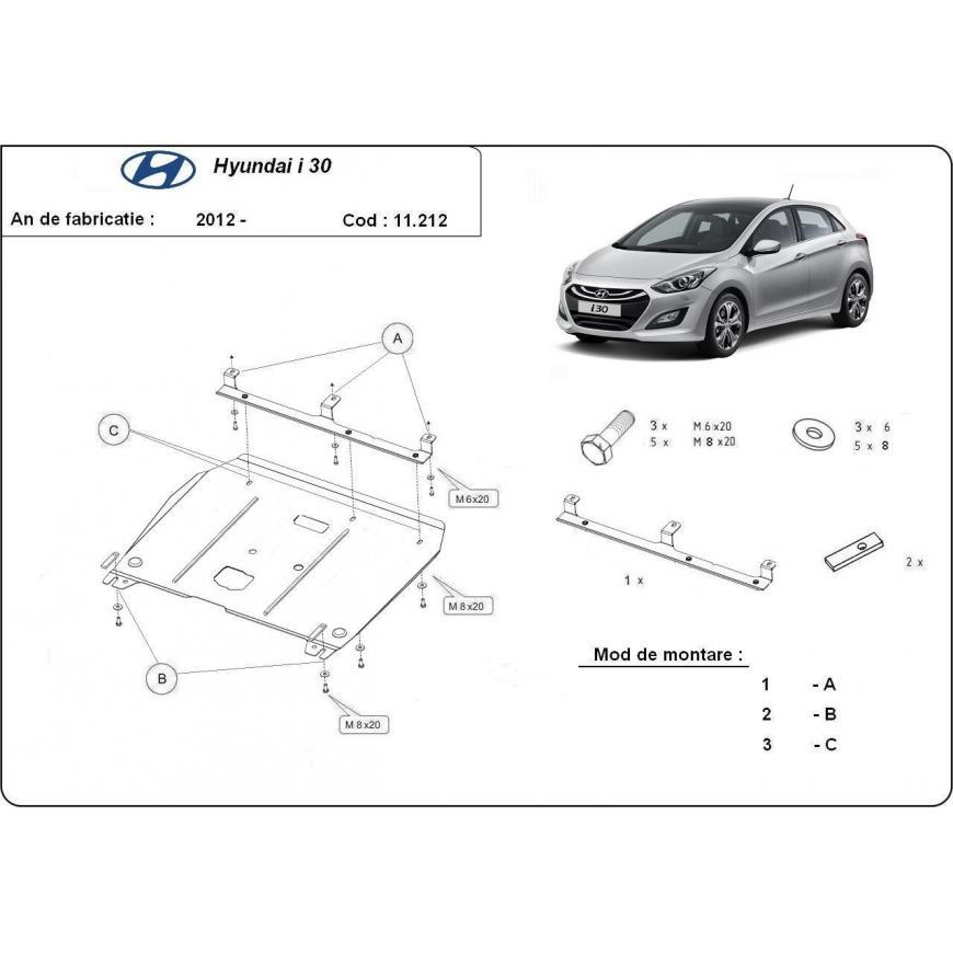 Scut metalic pentru motor si cutia de viteze Hyundai I30 2011-