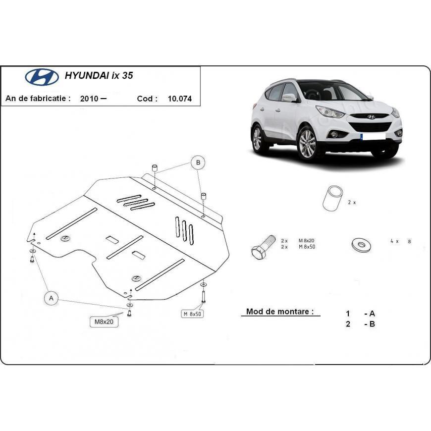 Scut auto metalic pentru motor si cutia de viteze Hyundai Ix 35