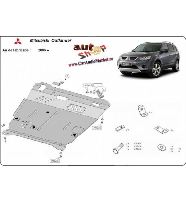 Scut metalic pentru motor si cutia de viteze Mitsubishi Outlander 2006-
