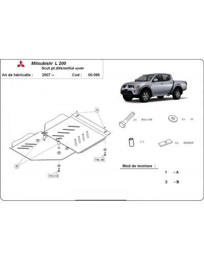 Scut metalic pentru diferential Mitsubishi Pajero incepand 2007
