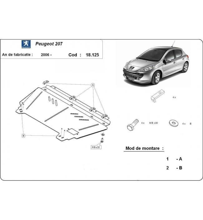 Scut metalic pentru motor si cutia de vitezeze Peugeot 207