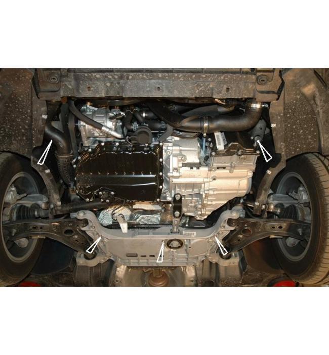 Scut metalic pentru motor si cutia de viteze Skoda Octavia II 2009-
