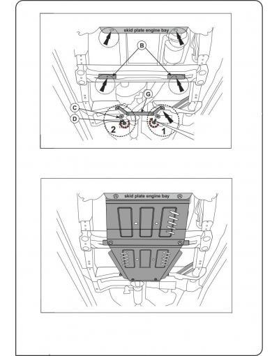 Scut metalic cutia de viteze si diferential Suzuki Grand Viatara 2005-