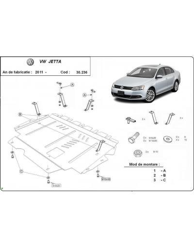 Scut metalic pentru motor si cutia de viteze Volkswagen Jetta 2011-