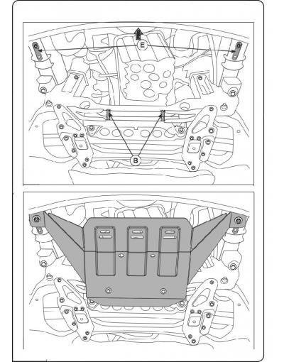 Scut motor Volkswagen Crafter fabricat dupa 2005