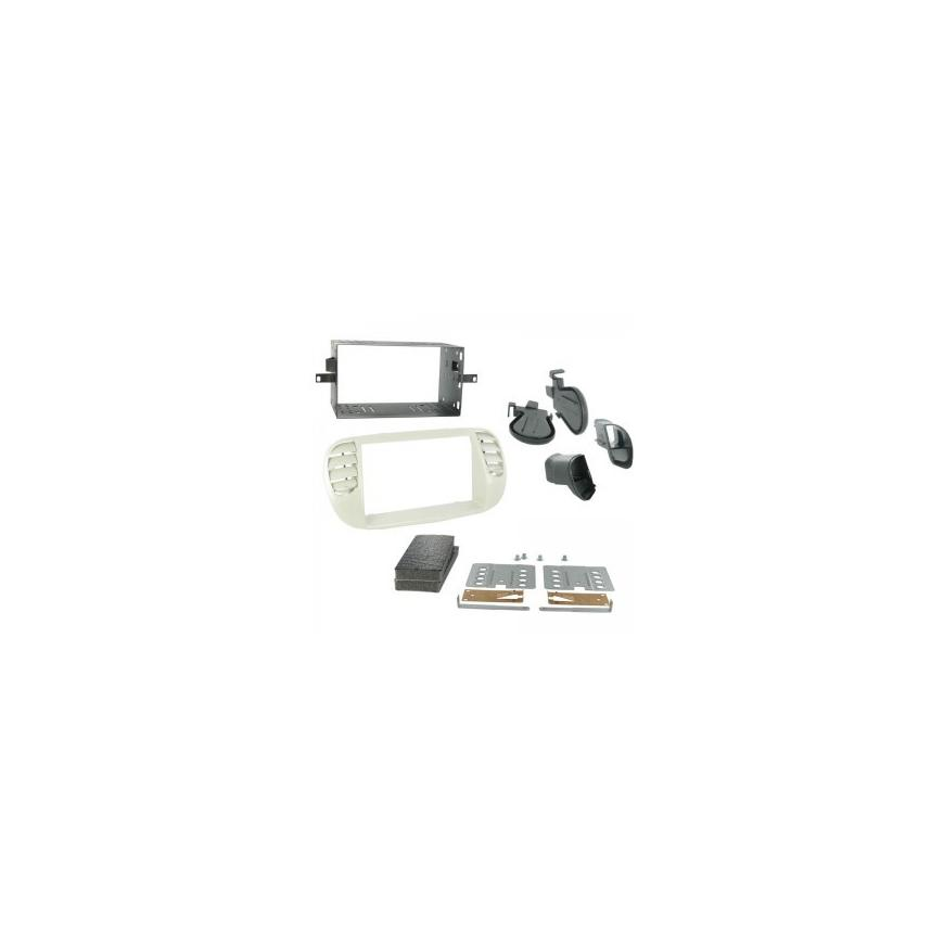 kit rama 2DIN FIAT 500(Negru-aer conditionat)