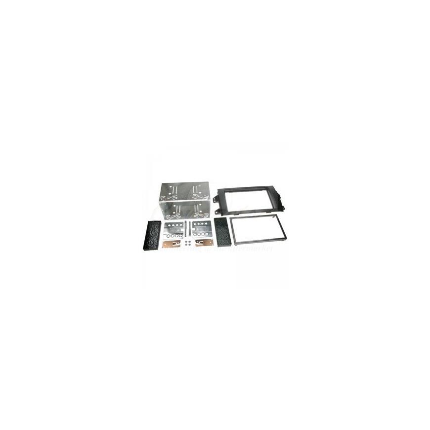 kit rama 2DIN FIAT 500(Negru-aer conditionat)