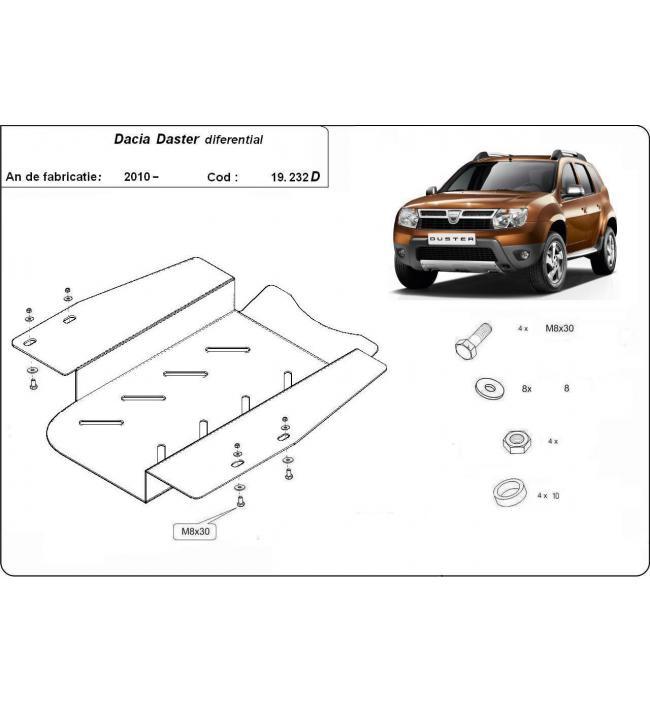 Scut metalic pentru diferential Dacia Duster