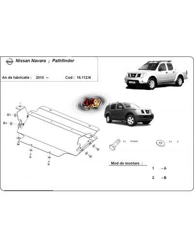 Scut metalic pentru radiator Nissan Navara