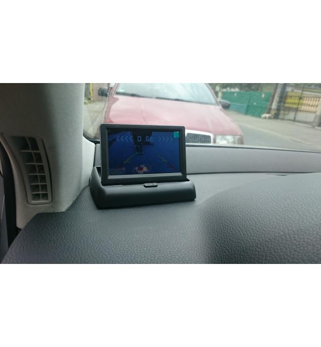 Monitor / Oglinda + camera parcare fata si spate + senzori parcare spate si fata + comutator