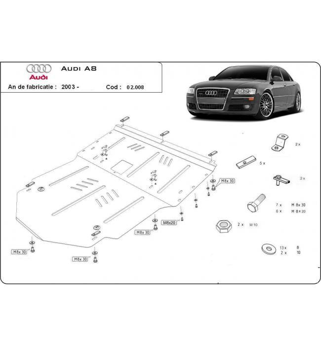 Scut metalic motor pentru Audi A8  2003 2004 2005 2006 2007 2008 2009 2010