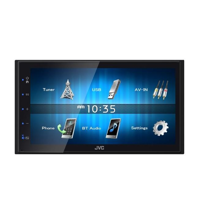 Receptor media digital, 6.8inch fara CD, 2DIN, JVC KWM24BT