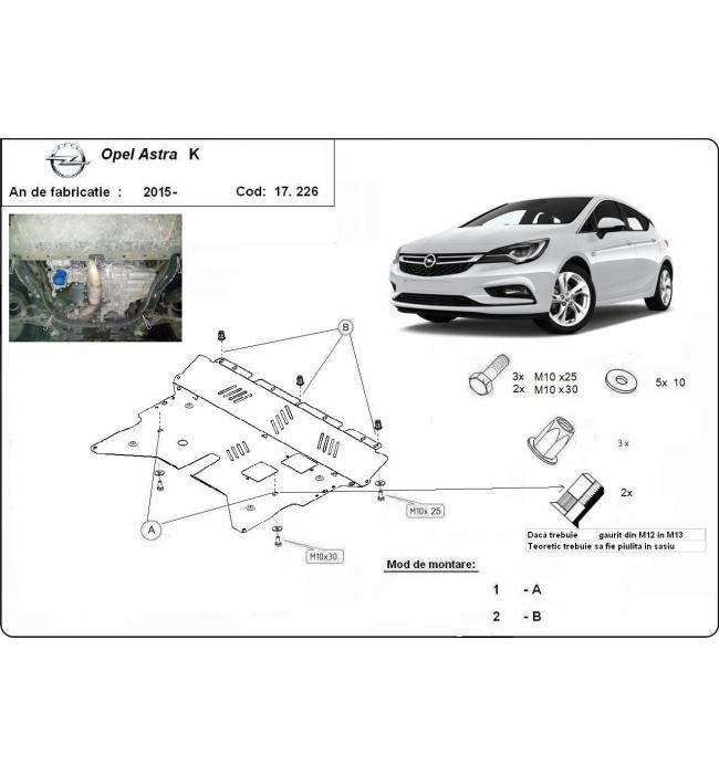 Scut motor metalic Opel Astra K 2015-