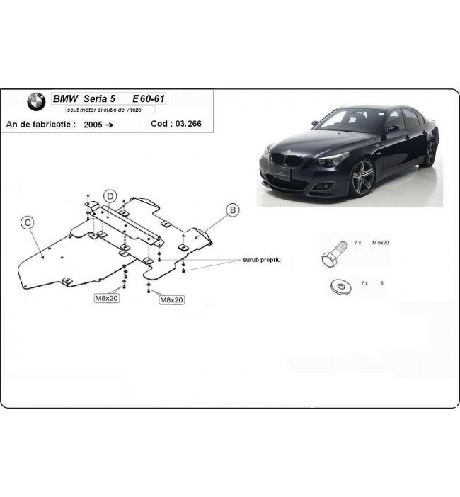 Scut motor BMW Seria 5 E60-E61 2005 2006 2007 2008 2009 2010 2011