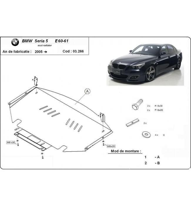 Scut radiator BMW Seria 5 E60-E61 2005 2006 2007 2008 2009 2010 2011