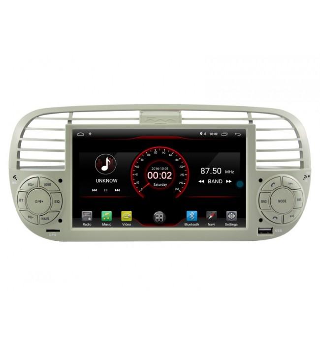 Navigatie dedicata Fiat 500 cu android