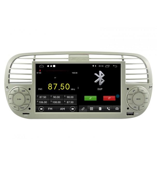 Navigatie dedicata Fiat 500 cu android si gps