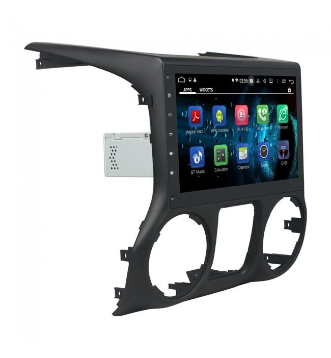 sistem de navigatie dedicata cu android si wifi pentru Jeep Wrangler 2011 2012 2013 2014 2015 2016 caraudiomarket