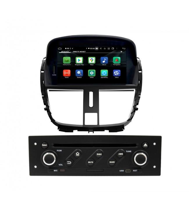 Navigatie dedicata cu Android pentru Peugeot 207 / 207CC 2007 2008 2009 2010 2011 2012 2013 2014 wifi bluetooth