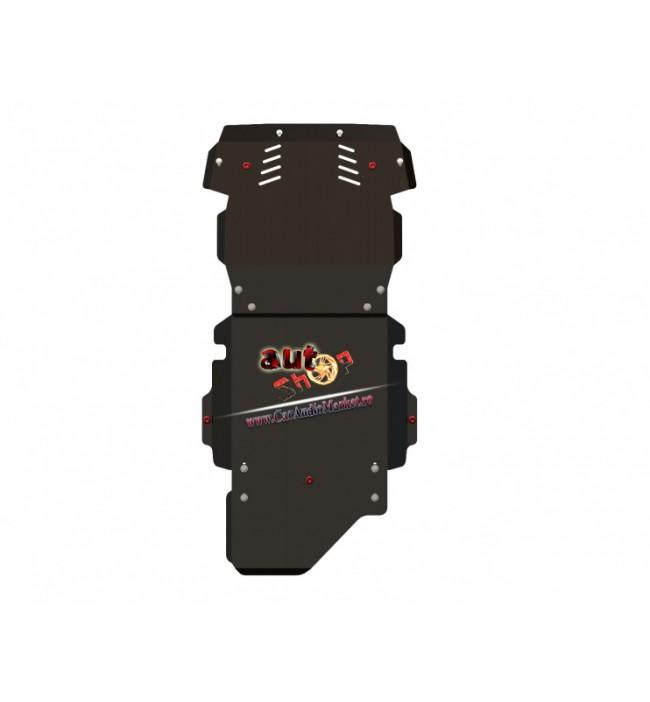 Scut metalic Pajero Pinin baia de ulei motor diferential fata scut cutie si diferential spate
