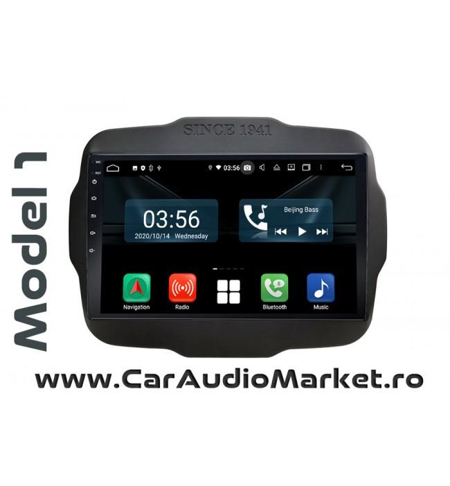 Navigatie dedicata cu Android Full Touch Jeep Renegade 2015 2016 2017 2018 2019 2020 toplita