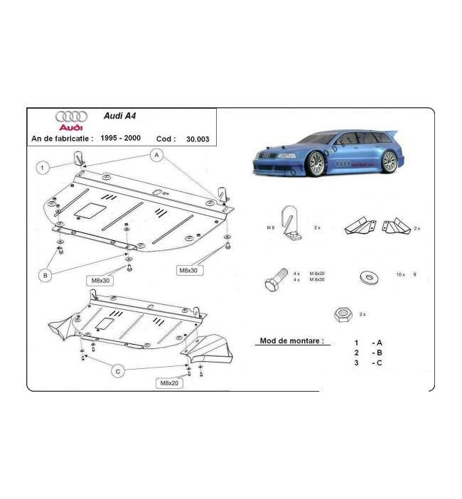 Scut motor metalic Audi A4 1995 1996 1997 1998 1999 2000 2001 1.6 - 2.0 1.9TDI