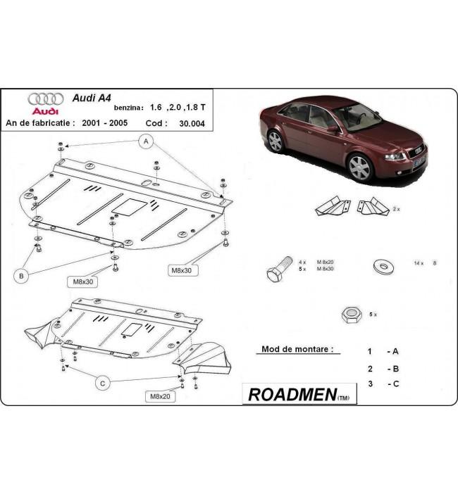 Scut motor metalic Audi A4 2001 2002 2003 2004 2005 benzina