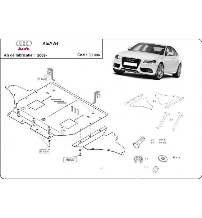 Scut motor metalic Audi A4 2008 2009 2010 2011 2012 2013 2014 craiova