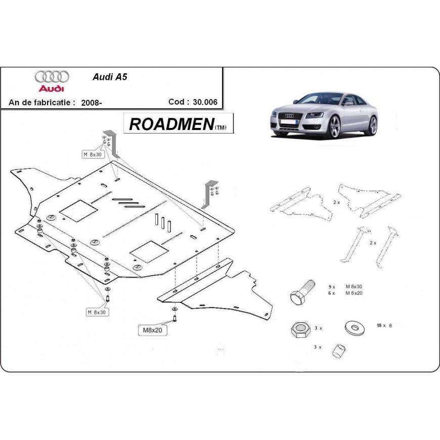 Scut motor metalic frontal Audi Audi A5 2008 2009 2010 2011 2012 2013 2014