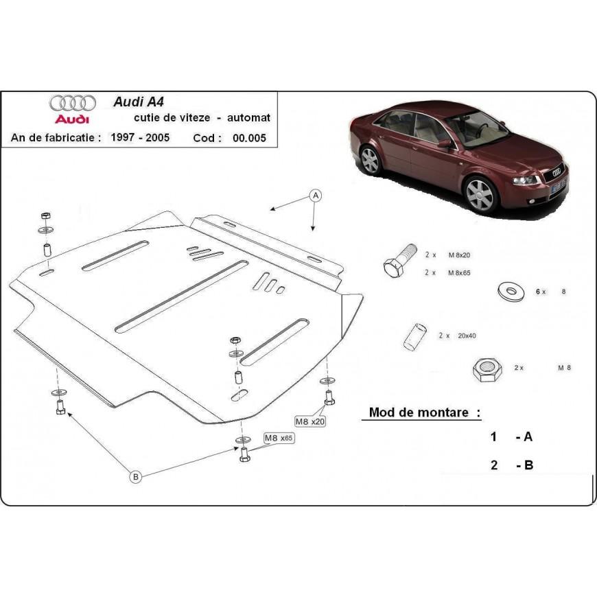 Scut metalic cutie de viteze automata Audi A4 1995 1996 1997 1998 1999 2000 2001 2002 2003 2004 2005 2006 2007 2008