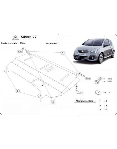 Scut motor metalic Citroen C2 2003 2004 2005 2006 2007 2008 2009