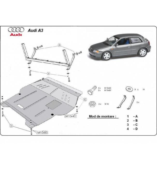 Scut motor metalic Audi Audi A3 1996 1997 1998 1999 2000 2001 2002 2003