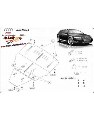 Scut motor metalic pentru Audi Allroad 2005 2006 2007 2008 2009 2010