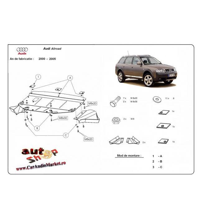 Scut motor metalic frontal Audi Allroad 1998 1999 2000 2001 2002 2003 2004 2005