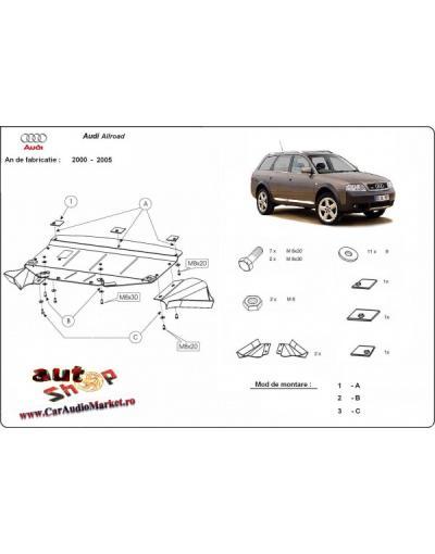 Scut motor metalic frontal Audi Allroad I 1998-2005