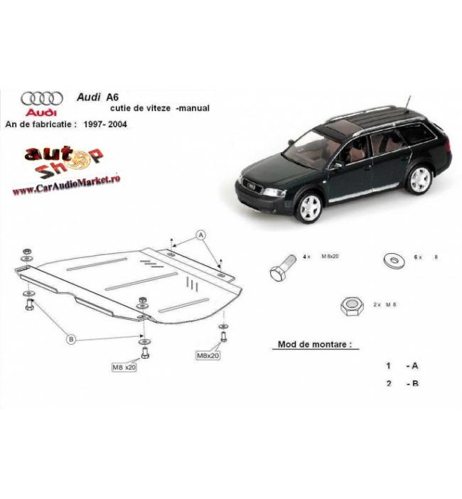 Scut metalic cutie de viteze manuala Audi A6 2 1997 1998 1999 2000 2001 2002 2003 2004 2005